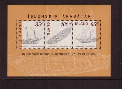 Iceland Sc 848 1997 Stamp Day stamp souvenir sheet mint NH