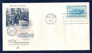 UNITED STATES FDC 3¢ Baltimore & Ohio Railroad 1952 ArtCraft