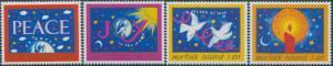 Norfolk Island 1998 SG686-689 Christmas set MNH