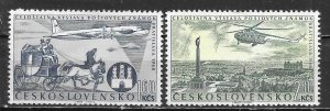 Czechoslovakia C49-50 Stamp Expo Airmail set MNH