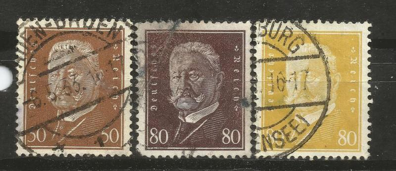Germany Scott # 381,383,384 USED