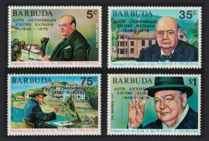 Barbuda 25th Anniversary of United Nations Churchill 4v SG#233-236