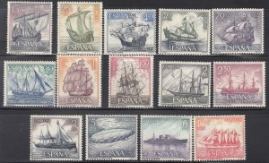 Spain, Sc 1248-1261, MNH, 1964, Honor the Spanish Navy