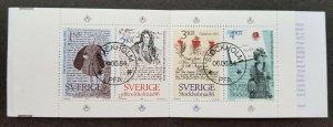Sweden Stockholmia 86 International Stamp Exhibition 1984 Letter (booklet) CTO