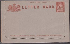 NEW SOUTH WALES 1½d lettercard unused.......................................3892