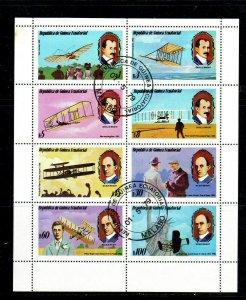 EQUATORIAL GUINEA 1979  AVIATION  MINT  VF NH  O.G SHEET OF 8  CTO  (eq10b)