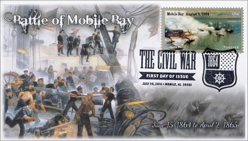 SC 4911, 2014, Battle of Mobile Bay, Civil War,  Black and White Pictorial