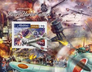 MALDIVES 2016 SHEET PEARL HARBOR SECOND WORLD WAR WWII mld16410b