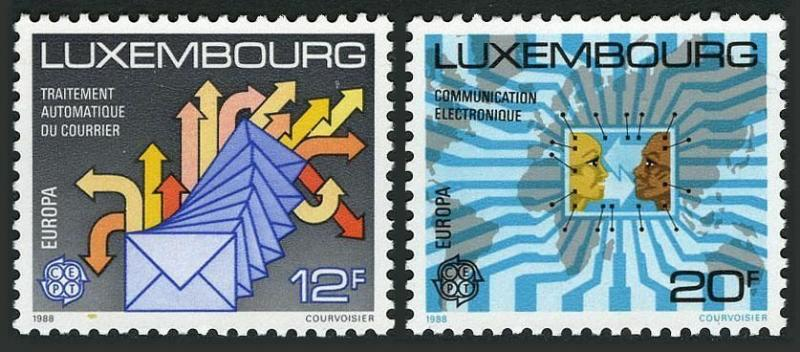 Luxembourg 787-788,MNH.Michel 1199-1200. EUROPE CEPT-1988.Communications.
