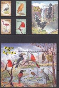 Liberia, Fauna, Birds MNH / 2000