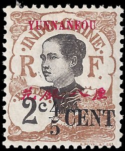 France-offices in China: Yunnanfou 1908 YT 34 MH F