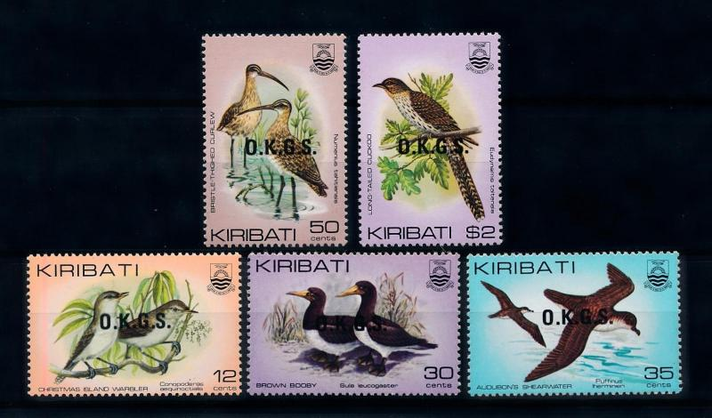 [53283] Kiribati 1983 Birds Vögel Ucelli Service stamps with overprint OKGS MNH