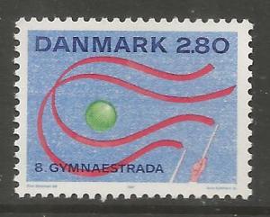 DENMARK  840  MNH, 8TH GYMNAESTRADA, HERNING, JULY 7-11