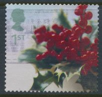 GB  SC# 2082 Christmas Holly  2002  SG 2322  Used   as per scan
