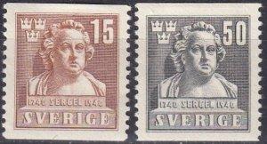 Sweden #314-5 Unused CV $6.00  (Z5235)