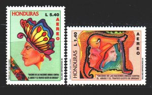 Honduras. 1996. 1305-6 from the series. Drug fight. MNH.