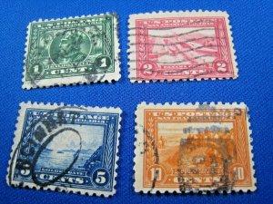 UNITED STATES,  1914-1915   SCOTT #401-404  -  Used