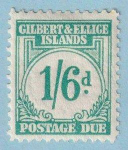 GILBERT & ELLICE ISLANDS J8 POSTAGE DUE  MINT HINGED OG * NO FAULTS EXTRA FINE!