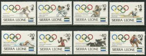 SIERRA LEONE Sc#1025-1034 1989 Seoul Olympics Medalists Cpl Set & 2 S/S OG MNH
