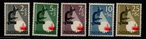 Netherlands Sc B281-85 1955 Cancer Research stamp set mint NH