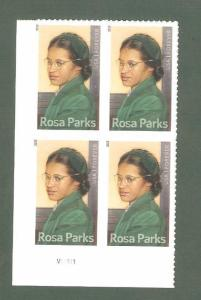 4742 Rosa Parks Plate Block Mint/nh (Free Shipping)
