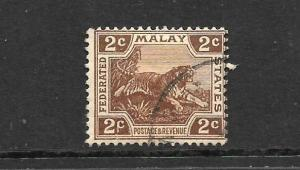 MALAY FEDERATED STATES  1922-34   2c  TIGER    FU   SG 54
