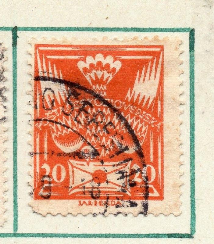 Czechoslovakia 1920 Early Issue Fine Used 20h. 230125