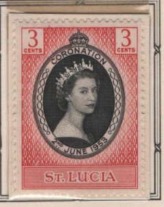 ST. LUCIA, 156, MNH, 1953, Coronation Issue