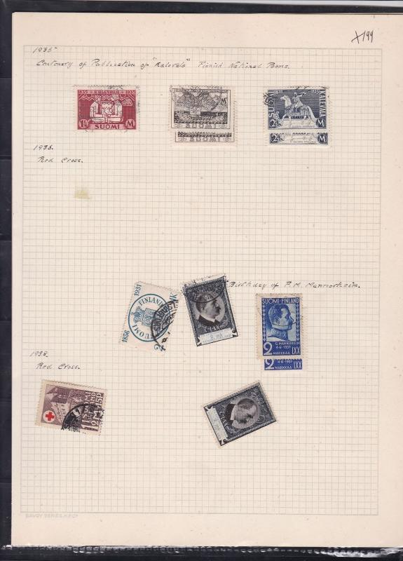 finland 1935-38 stamps page ref 18074