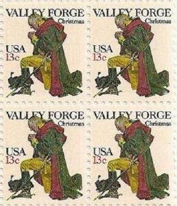 US 1729 Washington at Valley Forge 13c block (4 stamps) MNH 1977