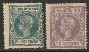 Fernando Po Sc 104,108 from set MH