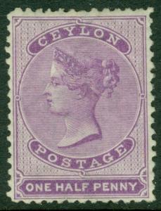 EDW1949SELL : CEYLON 1863 Scott #45 VF, Mint Original Gum. PO Fresh. Catalog $72