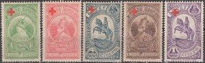 Ethiopia; 1936: Sc. # B1-B5: **/MNH Cpl. Set