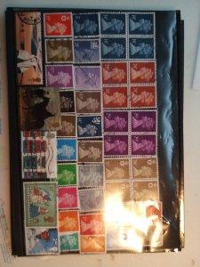 Lot 2 United Kingdom full page, 45 stamps used/unused
