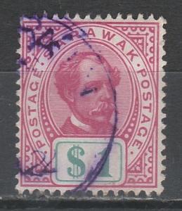 SARAWAK 1899 RAJAH BROOKE $1 USED