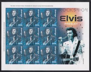 Sweden # 2493j, Elvis Presley, NH, 1/2 Cat.