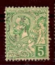 Monaco 1932: Sc. # 116; O/Used Single Stamp