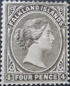 Falkland Islands 1889 QV 4d SG 12 mint