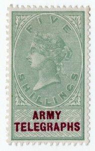 (I.B) QV Telegraphs : Army Telegraphs 5/-