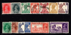 INDIA STAMP USED STAMPS COLLECTION LOT  #S2