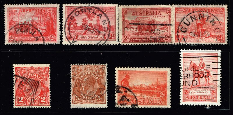 AUSTRALIA Stamp USED STAMPS COLLECTION LOT  #S1