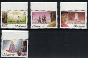 Montserrat SC588-591 Christmas '85 MNH 1986