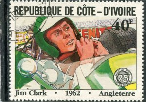 JIM CLARK British Racing Driver 1962 1 value Perforated Fine used VF