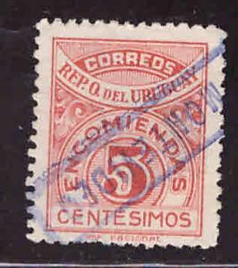 Uruguay Scott Q38 Used Parce post stamp