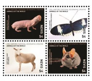 NEVIS - Animals of the World - Perf 4v Set - MNH