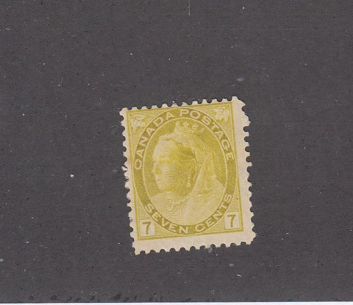CANADA (LOT KS030) #81  F-MH  7cts  QUEEN VICTORIA NUMERAL  CAT VALUE $75