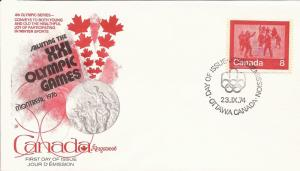 1974 Canada (Kingswood) FDC - Sc 646 - Keep Fit Winter Sports - Skating
