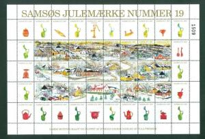 Denmark. Christmas Sheet Local Samso  # 19. 1997. Town: Harmark. Kitchen Items.