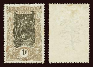 FRENCH CONGO Scott #47 1900 coconut grove perf 11 unused OG HR