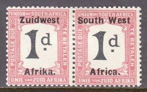 South West Africa - Scott #J19 - MH - Gum bumps - SCV $8.50